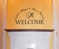 Welcome Arc Wall Decal