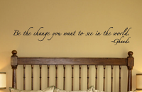 Gandhi Be The Change Wall Decals