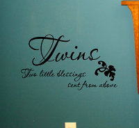 Twins Blessings Wall Decals