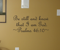 Be Still And Know Wall Decal