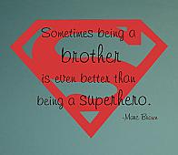 Superhero Brother Wall Decal Item