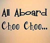 All Aboard Choo Choo Wall Decals
